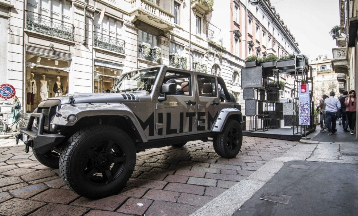 4x4 jeep Wrangler MILITEM JIII
