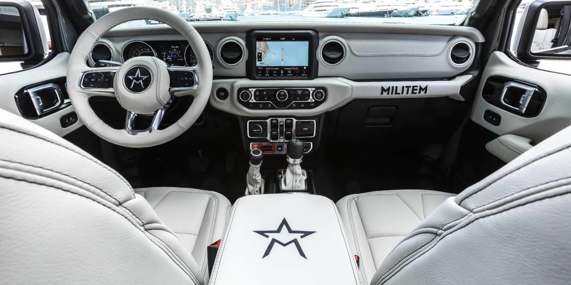 american 4×4 vehicle Ferox Militem interiors